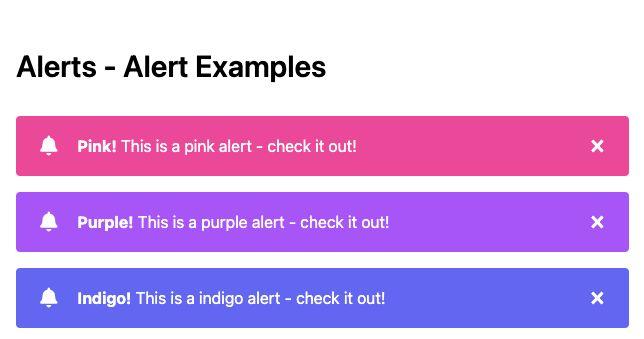 TailwindCSS Alerts - Alert Examples