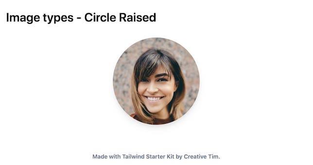 TailwindCSS Image Types - Circle Raised