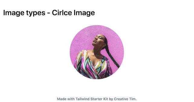 TailwindCSS Image Types - Cirlce Image
