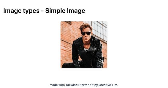 TailwindCSS Image Types - Simple Image