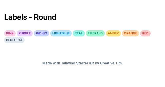 TailwindCSS Labels - Round