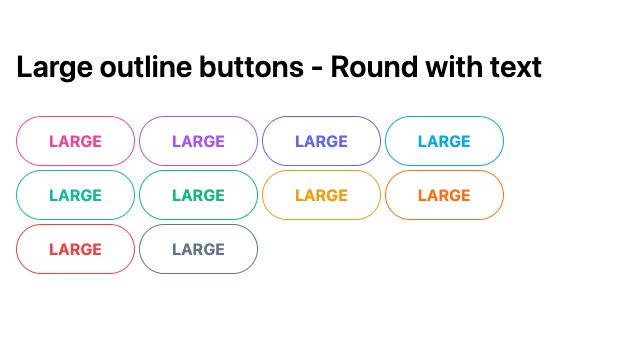 TailwindCSS Large Outline Buttons - Round with Text