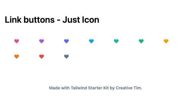 TailwindCSS Link Buttons - Just Icon