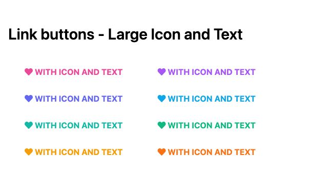 TailwindCSS Link Buttons - Large Icon and Text