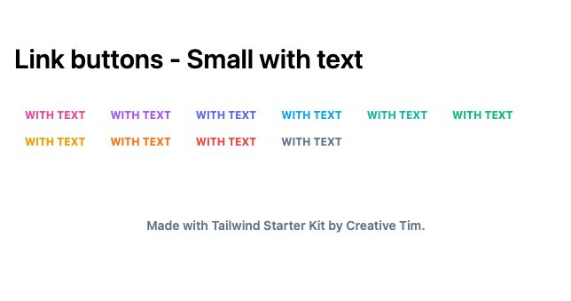 TailwindCSS Link Buttons - Small with Text