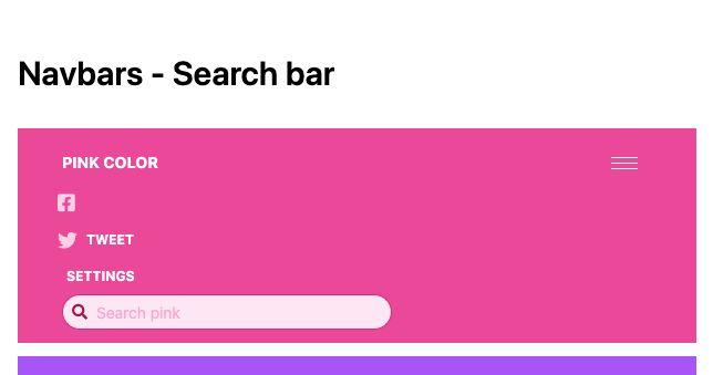 TailwindCSS Navbars - Search Bar