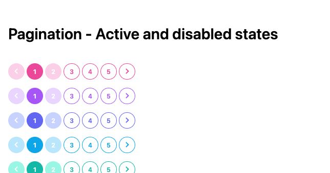 TailwindCSS Pagination - Active and Disabled States