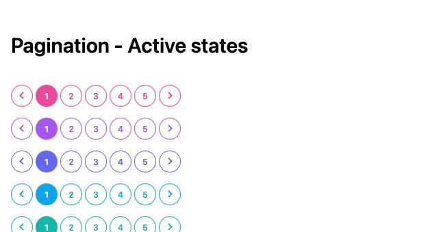 TailwindCSS Pagination - Active States