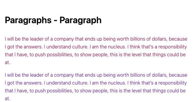 TailwindCSS Paragraphs - Paragraph