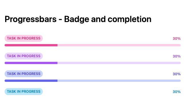 TailwindCSS Progressbars - Badge and Completion