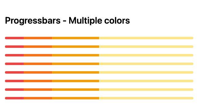 TailwindCSS Progressbars - Multiple Colors