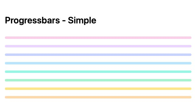 TailwindCSS Progressbars - Simple