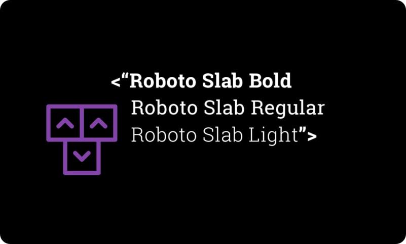 Roboto Slab typography