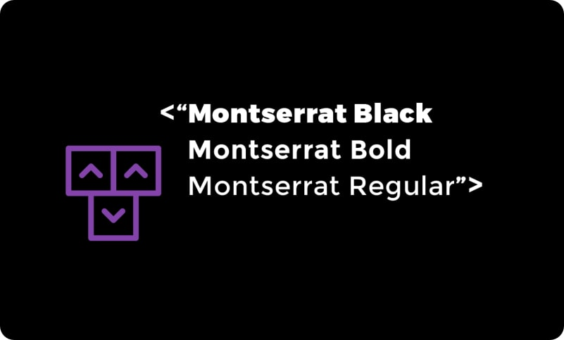 New Logo using montserrat typography