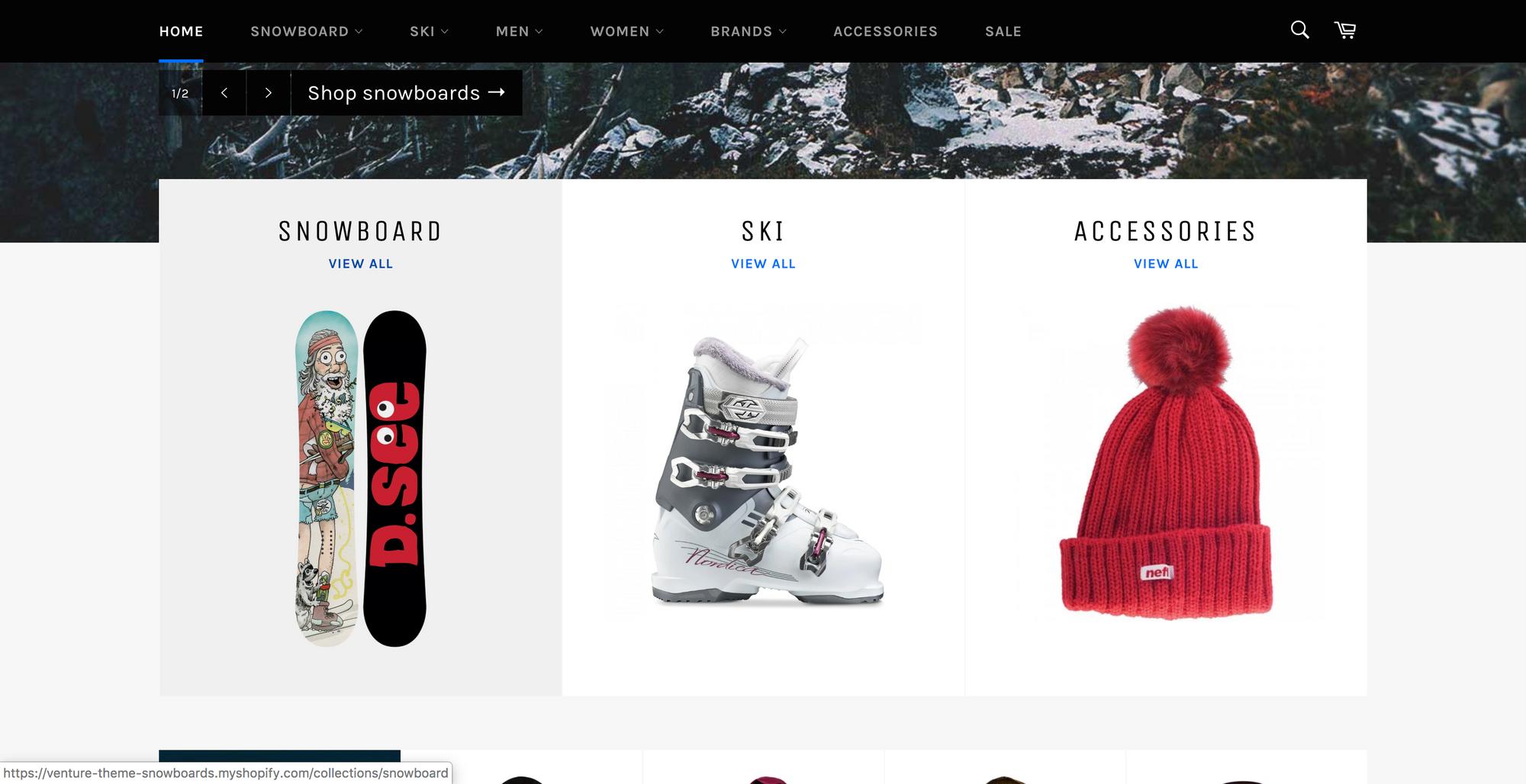 venture shopify template