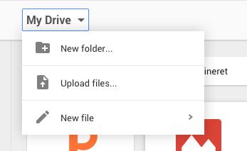 Google Drive My Drive Dropdown