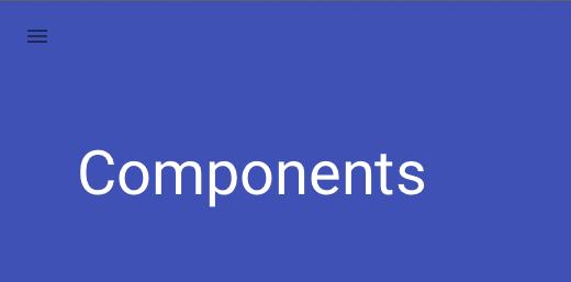 Google Material Design Navigation 1