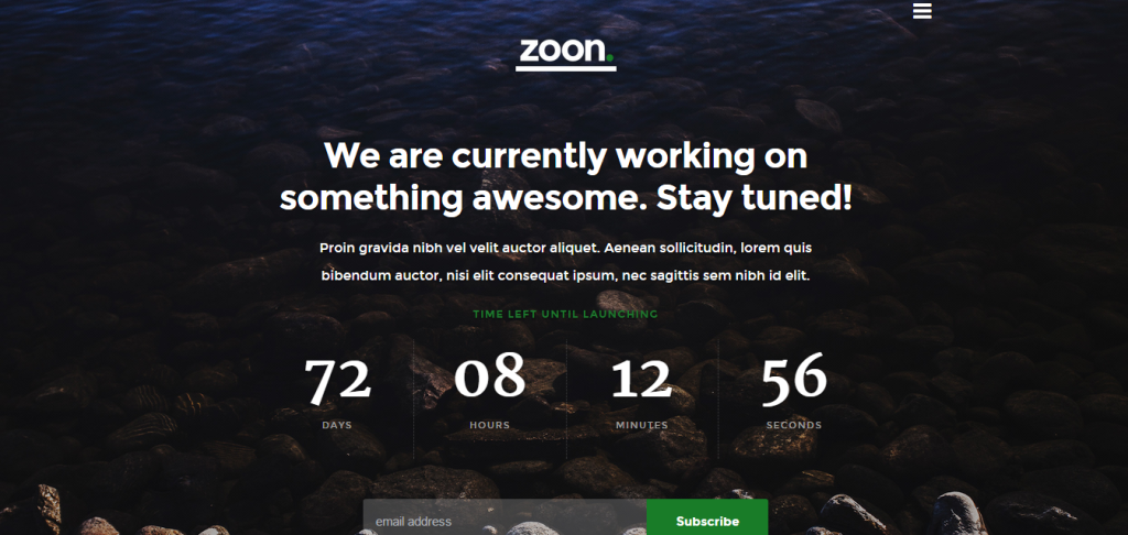 coming soon page - zoon