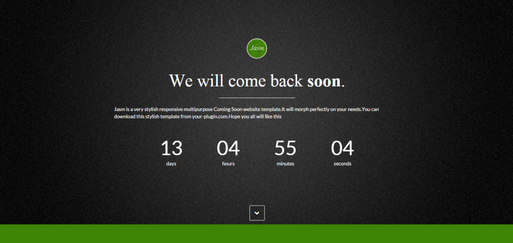 coming soon page - we will come back