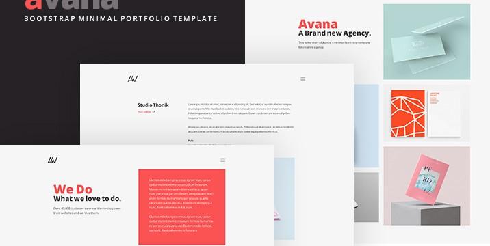 Avana-minimal-portfolio-template