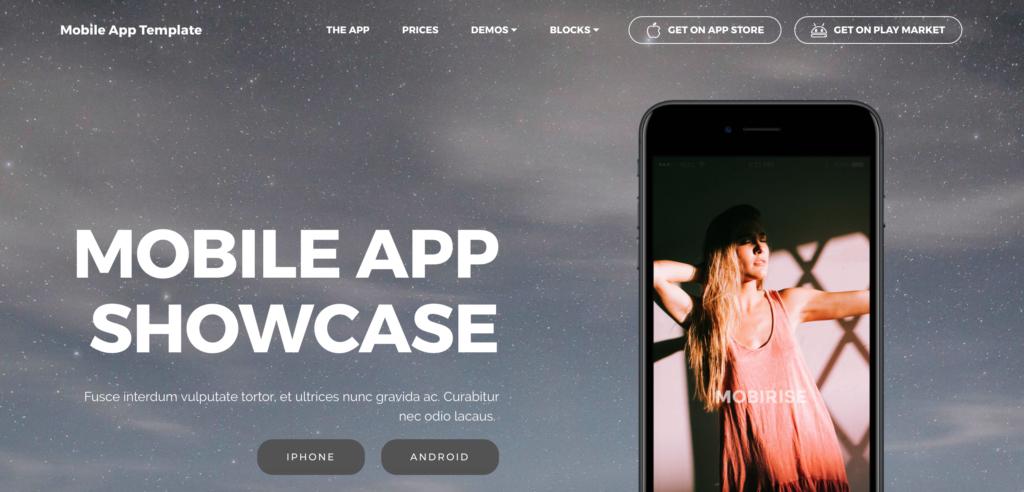 mobile app-Bootstrap 4 UI Kit