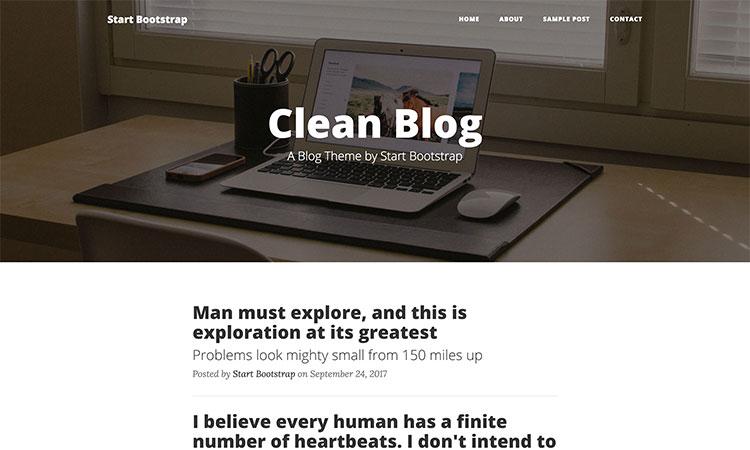 clean blog-Bootstrap 4 UI Kit