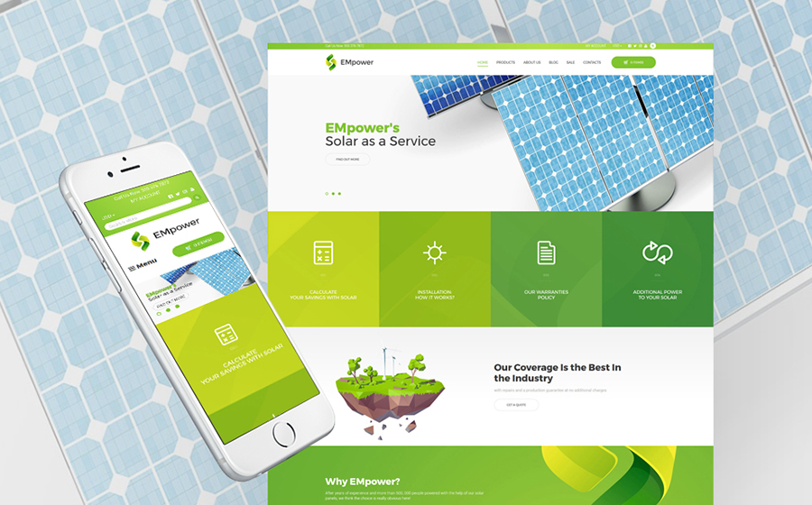 Solar Energy Shopify Theme