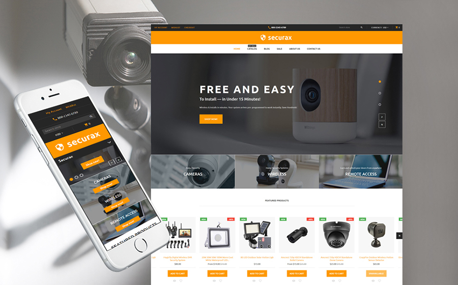 Security Equipment Shopify Theme