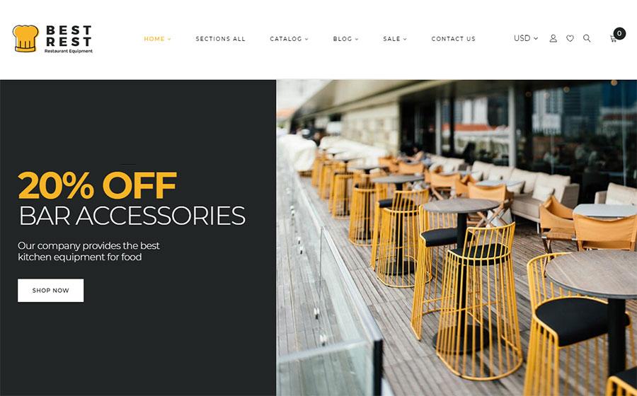 Best Rest - Bar Accessories Shopify Theme