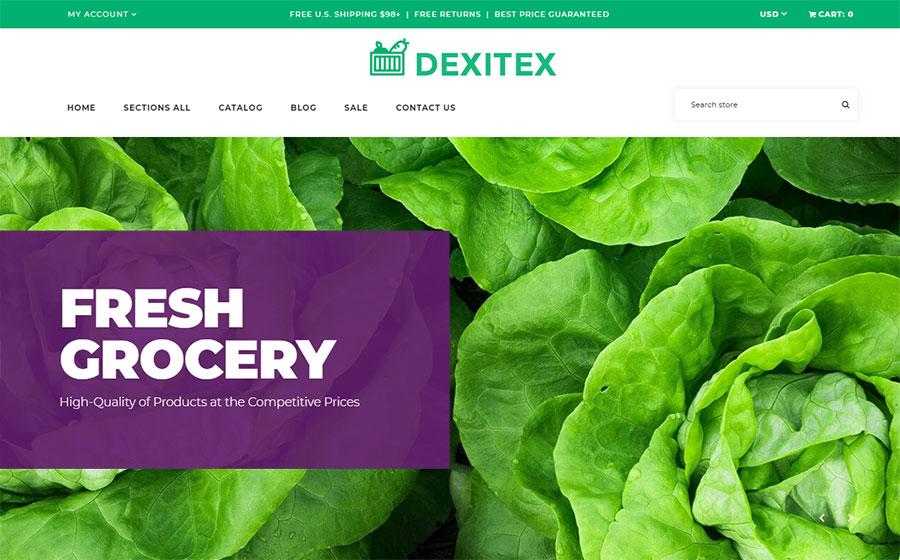 Dexitex - Convenient Grocery Online Store Shopify Theme