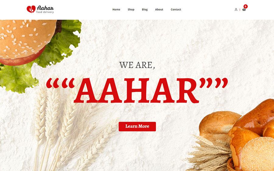 Aahar - Restaurants eCommerce Shopify Theme
