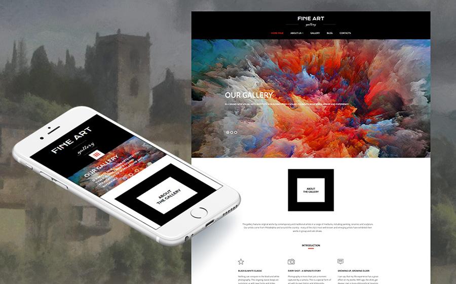 Art Gallery Responsive Moto CMS 3 Template