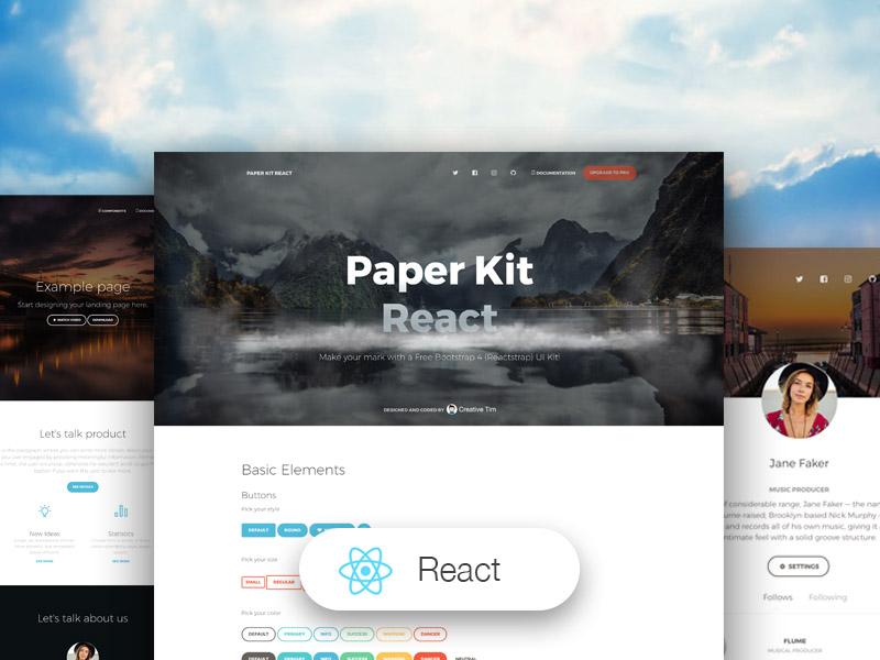 paper kit react.js