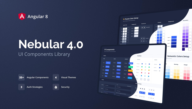 Nebular 4.0-free templates angular