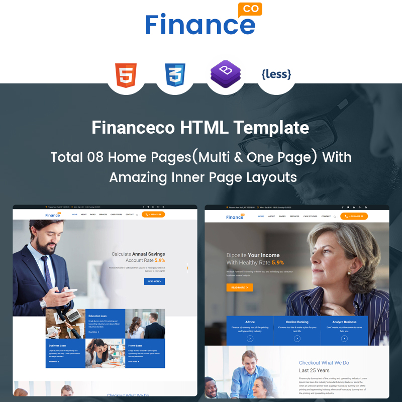 Financeco - Finance Corporate & Cunsulting Website Template