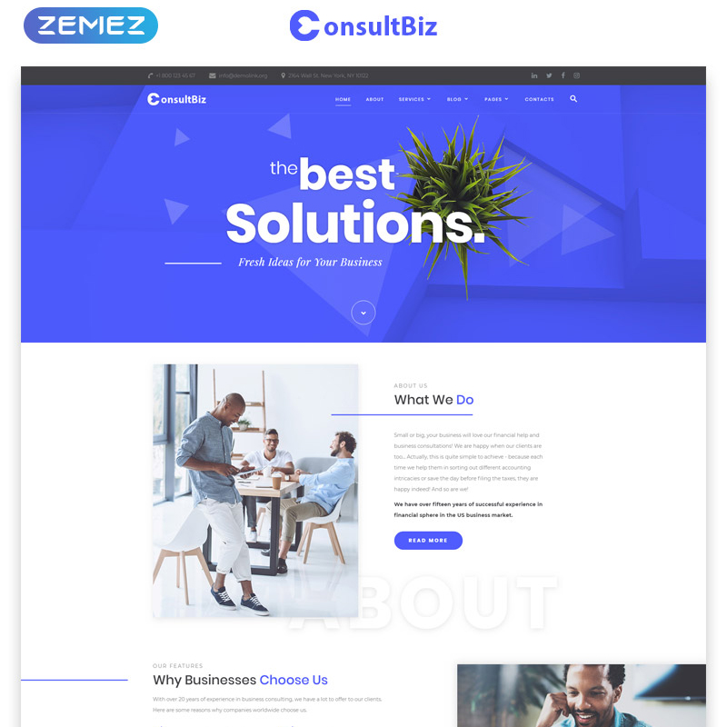 ConsultBiz Multipage HTML Template