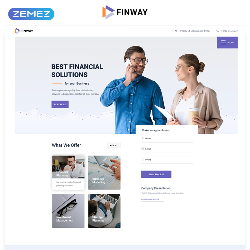 Financial Advisory Multipage HTML5 Template