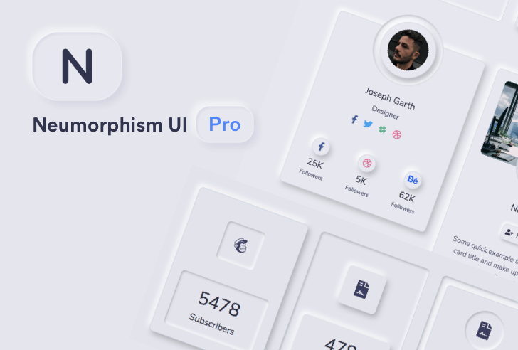 Neumorphism UI PRO Bootstrap
