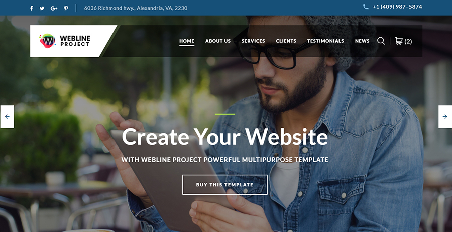 Webline - Startup Bootstrap Landing Page Template