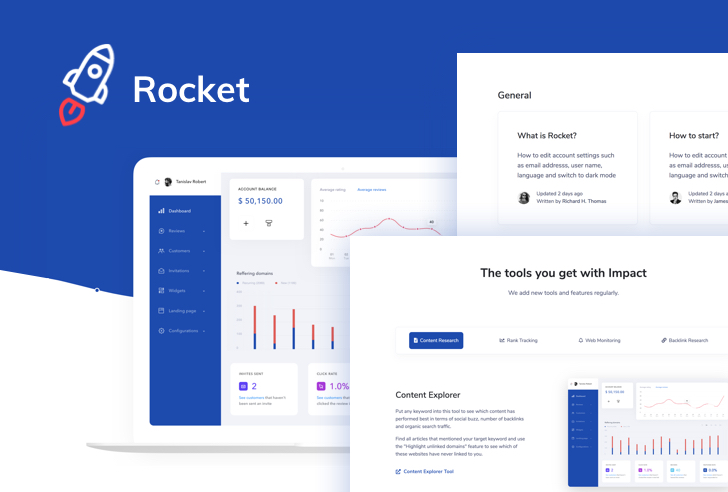 Rocket – SaaS Bootstrap Template