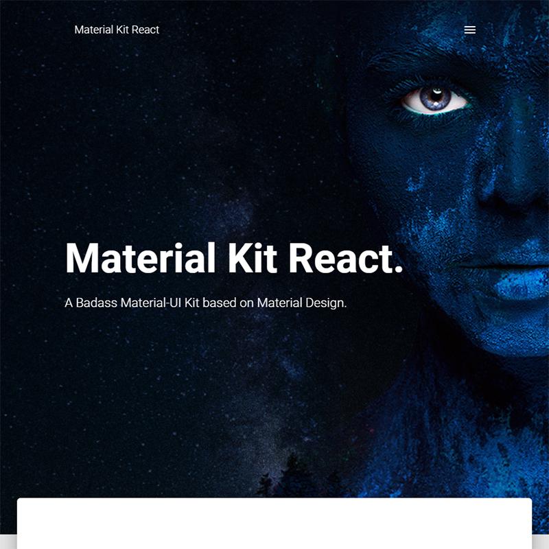 Material Kit React - Free Material-UI Kit