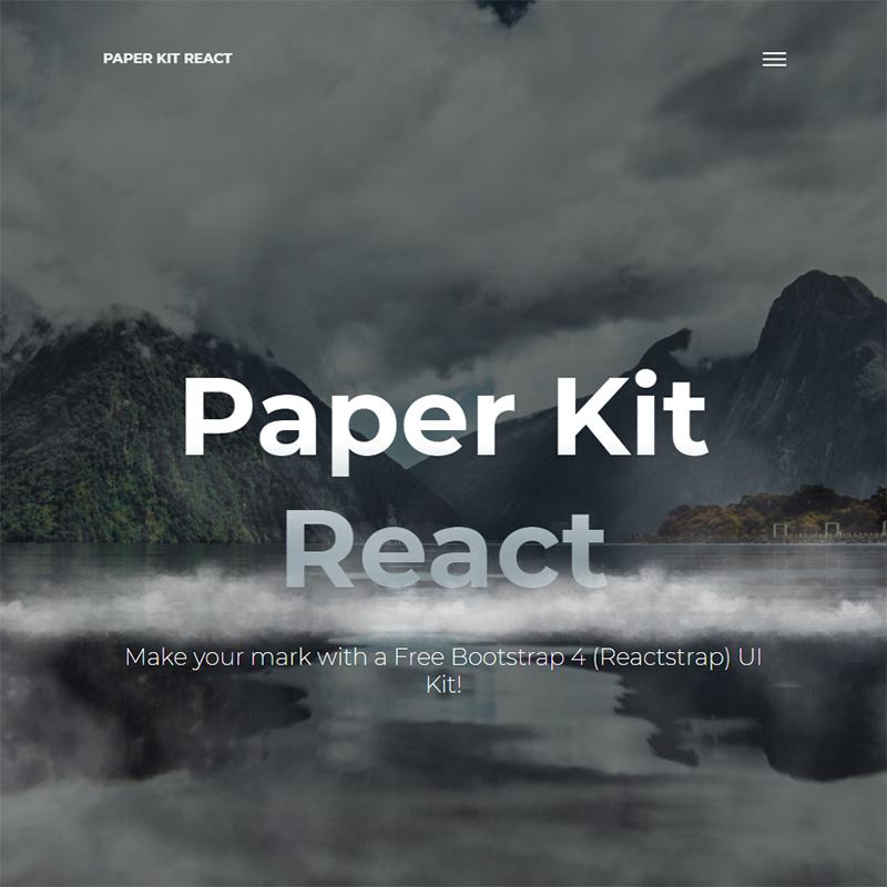 Paper Kit React - Free Bootstrap 4 And Reactstrap UI Kit