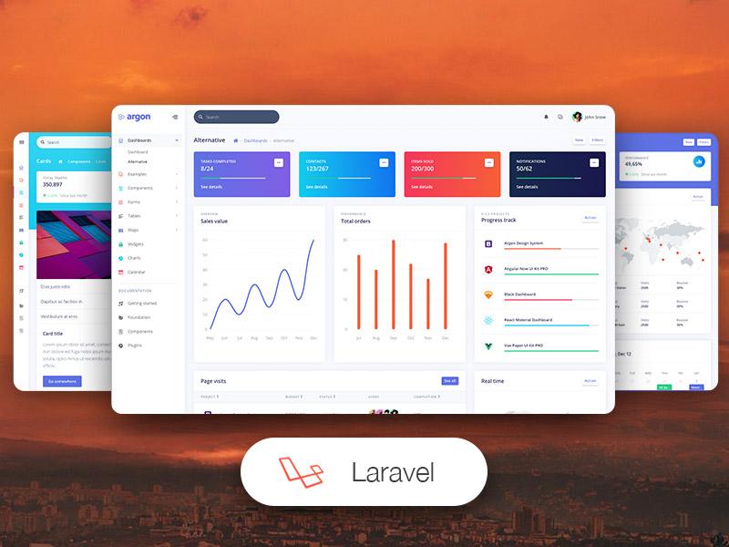 argon dashboard pro laravel templates