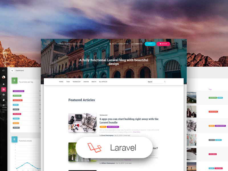 material blog laravel templates