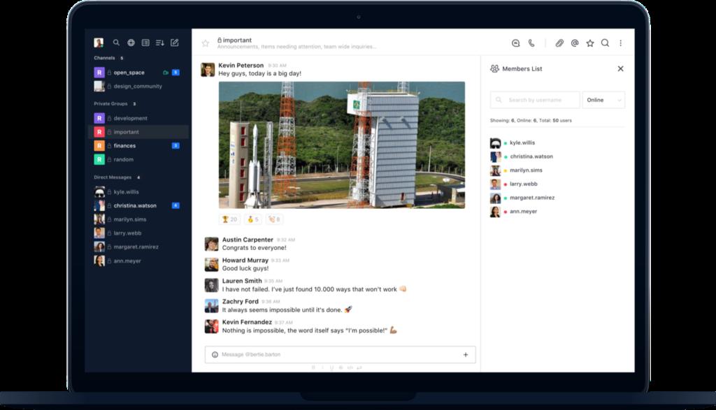rocket chat productivity tools