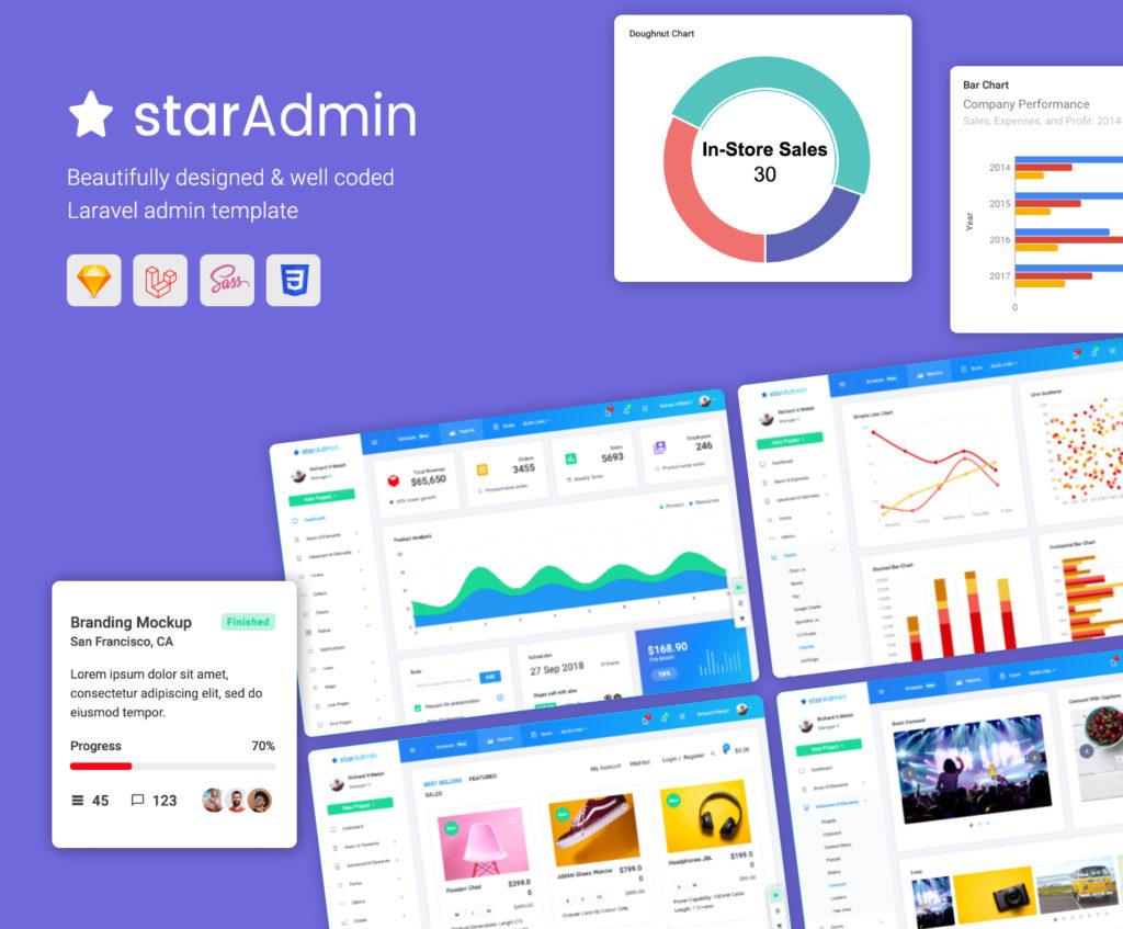 star admin laravel templates