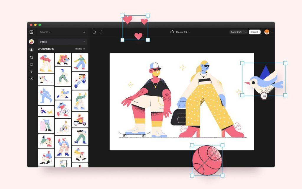 illustration tools vector creator