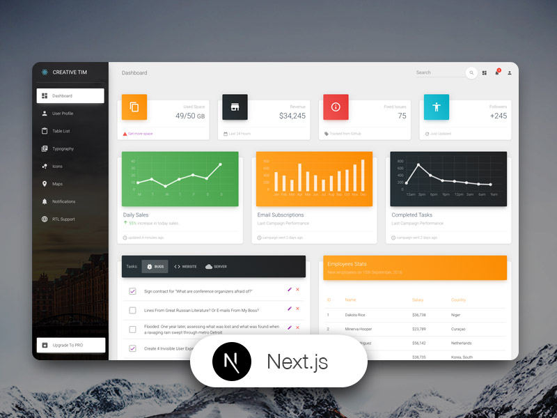 free nextjs material-ui kit