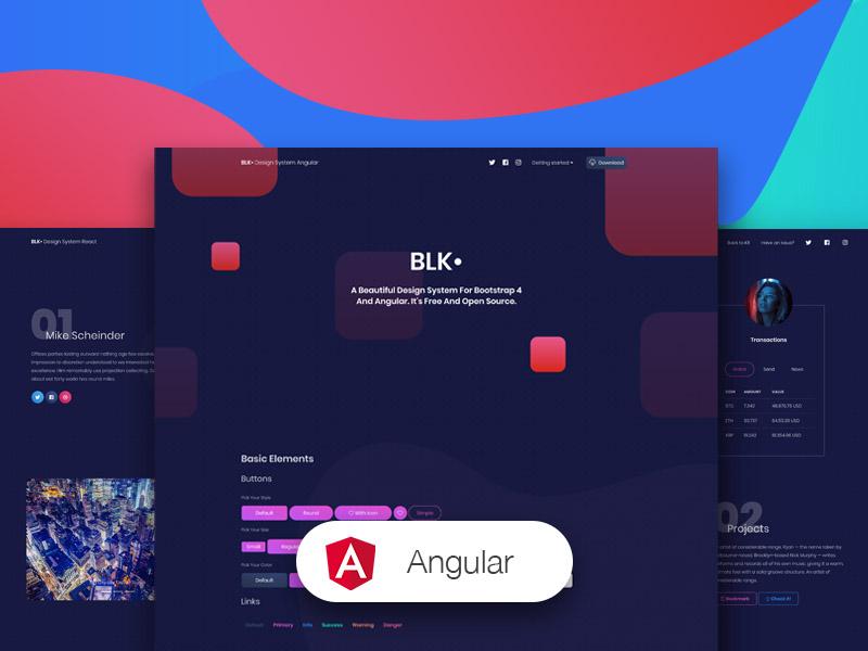 blk design system angular components