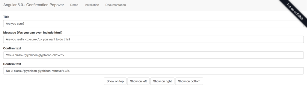 confirmation popover angular components